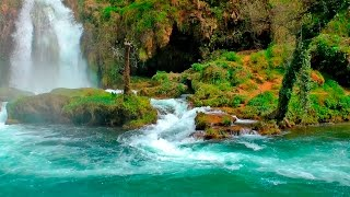 Relaxing music with nature sounds  waterfall hd