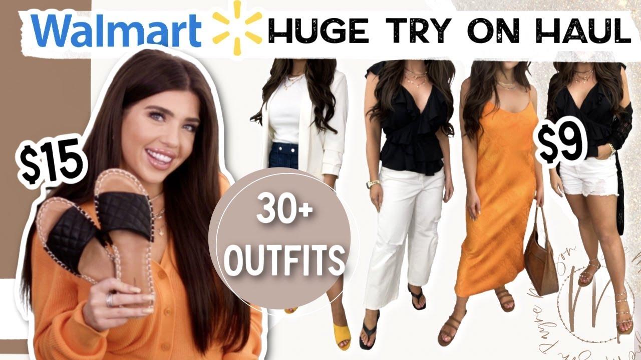 WALMART HAUL 2021 | HUGE Walmart Try On Clothing Haul |  30+ OUTFITS Spring/ Summer #WalmartFashion