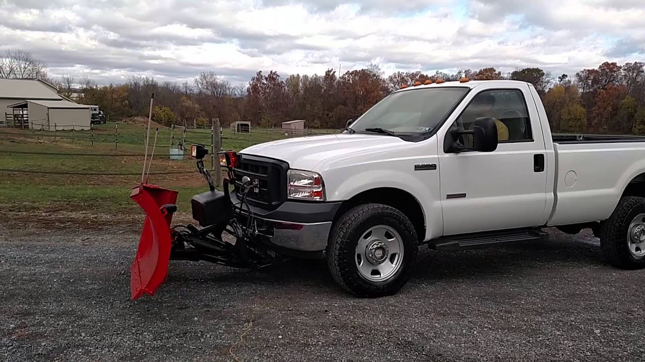 SOLD 2006 Ford F350 Snow Plow Truck - YouTube