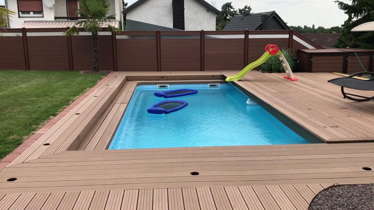 pool schiebeterrasse mit smart home steuerung youtube. Black Bedroom Furniture Sets. Home Design Ideas