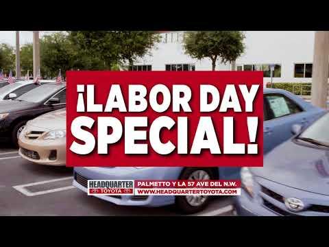 Headquarter Toyota Labor Day Tent Sale Event!