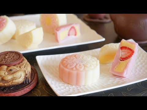 (Episode_0056) Snowy Mooncakes with Custard Filling 奶黄冰皮月饼