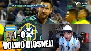 Argentina Vs Brasil | Volvio MESSI! | Reacción de un hincha! | Amistoso Internacional 2019