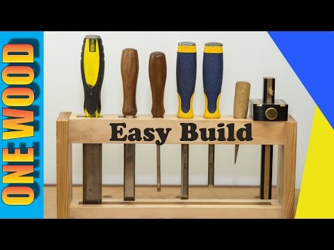 🔨 Woodworking project build a DIY Chisel Rack, Beginners woodworking Project #woodworking