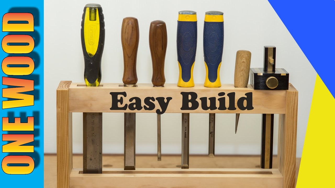 Woodworking project build a DIY Chisel Rack, Beginners ...