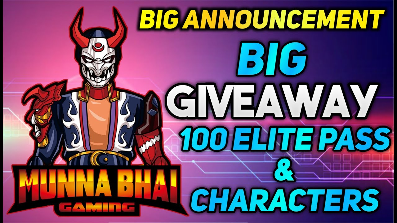 100 Elite Pass Giveaway FREE FIRE SEASON 37🔥!!1.8Million Special💓- Free Fire Telugu Biggest Giveaway