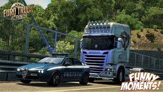 Euro Truck Simulator 2 Multiplayer Funny Moments & Crash Compilation #76