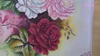 Pintando com Márcia Spassapan – Rosas com Pássaros | Técnica com Stencil