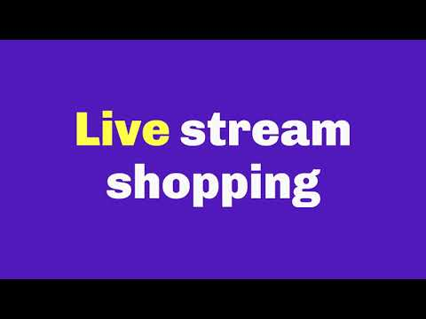 Live stream shopping  with Streams live