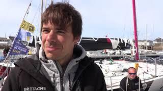 Petite question à Sébastien SIMON avant de prendre le départ de la Solo Concarneau