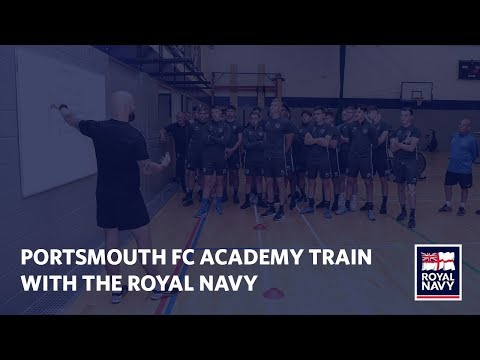 Footballers From Portsmouth FC Academy Training With The Royal Navy | NAVYfit