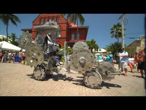 Key West's Kinetic Sculpture and Art Bike Parade Salutes Folk Artist's Legacy