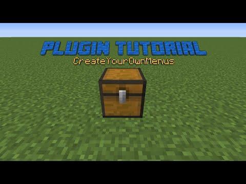 Minecraft Plugin Tutorial: CreateYourOwnMenus