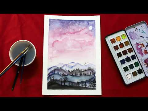 Water colour painting | Veen Arts | Time-lapse Cinematic