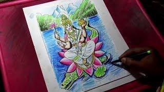 How to Draw Goddess Ganga Drawing
