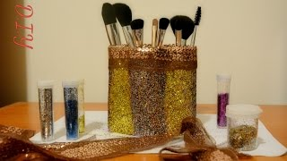 Best Out Of Waste Makeup Brush Holder! (Easy+Cheap) Tissue Paper Rolls Craft Idea