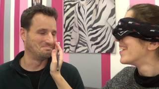 reto 2ª parte maquillar a mi pareja con los ojos cerrados