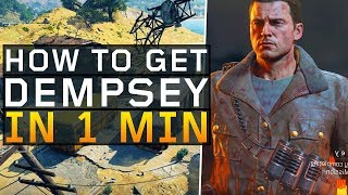 How to Unlock Dempsey in 1 minute! (Black Ops 4: Blackout)