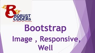 Bootstrap3  part-8|Bootstrap Images , Responsive , Well | create well example in bootstrap