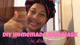 DIY Hair Mask with Ingredients from Home For all Hair Types Curly Hair Series 1 5