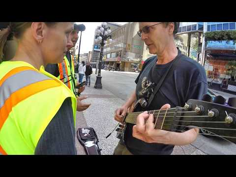 """The Joys of Busking - Vancouver """"Noise cops"""" making seizure threats & advice to work at Starbucks"""