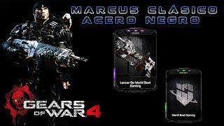 """Gears of War 4 l 1ra. Partida """" Escalada """" Marcus Clásico Acero Negro l Skin WB Gaming l 1080p Hd"""