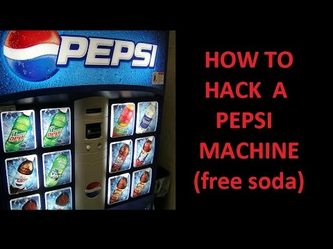 how to hack a pepsi vending machine for a free soda youtube