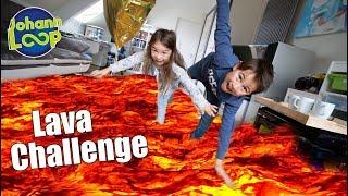 Der Boden ist Lava Challenge 🔥 Mit meiner Schwester | Johann Loop
