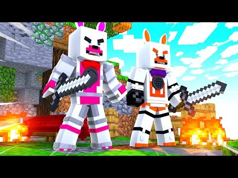Lolbit And Funtime Foxy Team Up On Bed Wars (Minecraft Fnaf Roleplay Adventure)