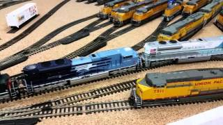 awesome double stack container car train 5 mth sd70ace pulling