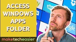 How to Access tнe WindowsApps Folder in Windows 10