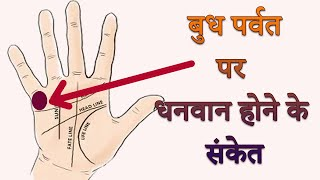 hast rekha gyan in hindi | Budh parvat | palmistry in hindi| Money | Paisa | indication on palm
