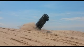 Huge Crash and Flip at Silver Lake Sand Dunes