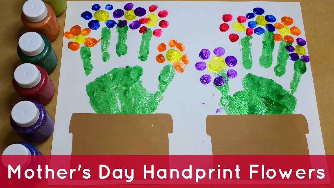 Handprint Flowers - Preschool Craft - YouTube