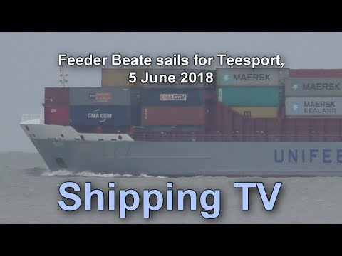 Feeder Beate sailing for Teesport, 5 June 2018