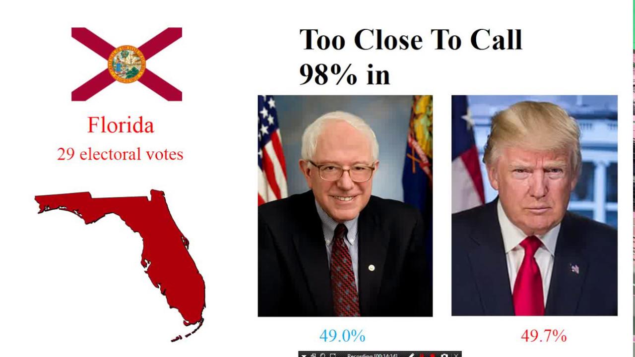 election night  president trump  bernie sanders youtube