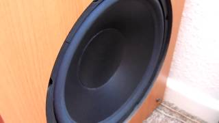 epos els subwoofer Excursion Video
