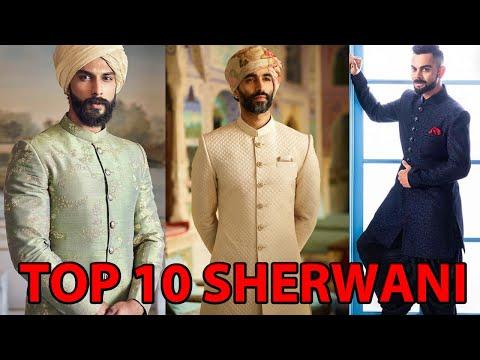 TOP 10 LATEST DESIGNER SHERWANI FOR GROOM || WEDDING SHERWANI FOR MEN