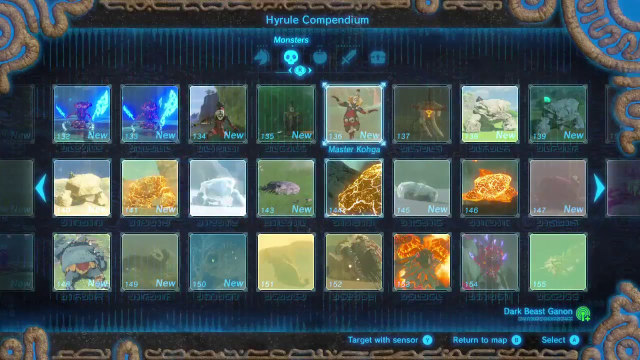 All Dlc 2 Compendium Pictures Zelda Botw Champions Ballad Youtube