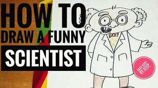 How to draw a Scientist | Cartoon | Easy Steps