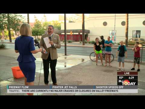 News Anchor Attacked by Water Balloons