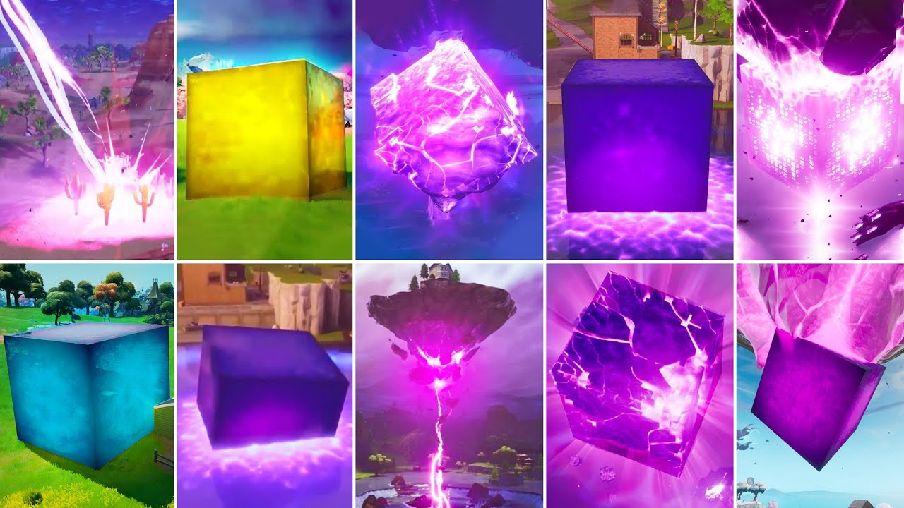 Evolution of Kevin the Cube - Fortnite Chapter 1 (Season 1) to Chapter 2 (Season 8)
