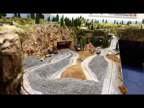 Byron rally scalextric slot car track layout