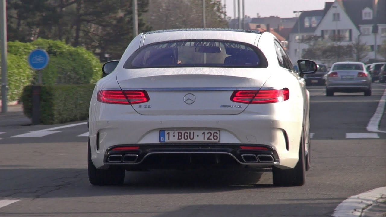 2015 MercedesBenz S63 AMG Coupe  Accelerating Sound  YouTube