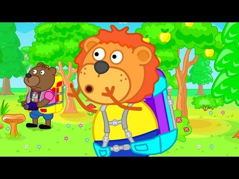 Lion Family Lost In The Woods Cartoon For Kids