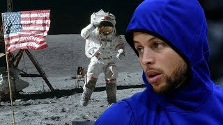 Steph Curry Says He Doesn't Think We EVER Landed On The Moon!