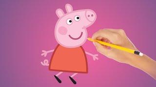 Как рисовать свинку Пеппу
