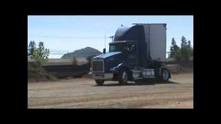 Backing up a Double Semi Tractor Trailer #4