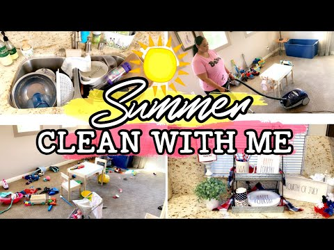 ☀️SUMMER CLEAN WITH ME | CLEANING MOTIVATION 2019 | DECORATE WITH ME 🇺🇸 💥