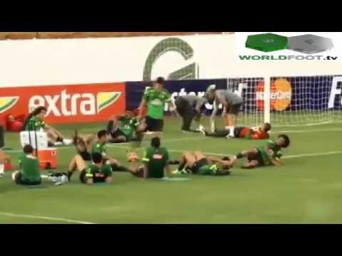 Neymar Marcelo Hernanes  off their Capoeira in Brazil Training